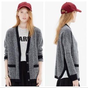 Madewell merino wool gray cardigan size xs